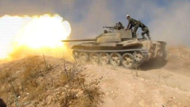 Столкновение американских бандитов и правительственных войск Сирии на севере Хамы