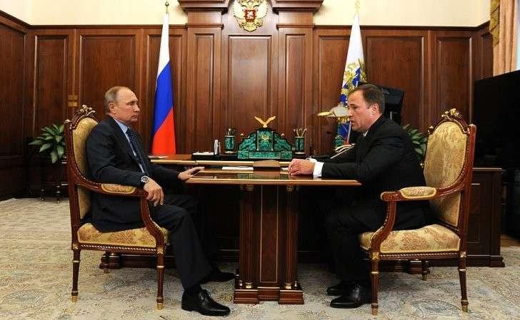 Встреча сгенеральным директором Государственной корпорации покосмической деятельности «Роскосмос» Игорем Комаровым.