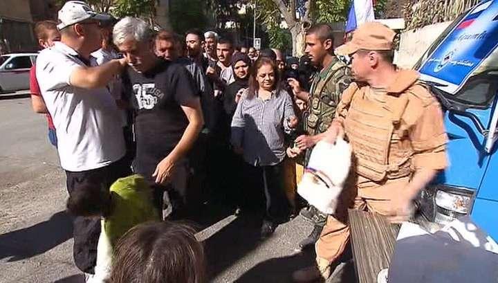 В Алеппо продолжает поступать российская гуманитарная помощь