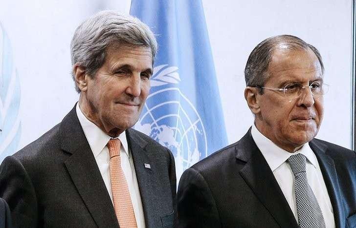 Джон Керри и Сергей Лавров (слева направо)