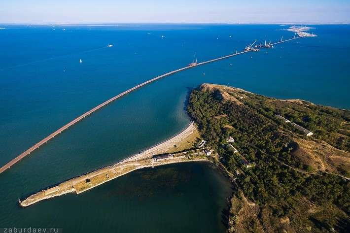 Панорама строительство моста через Керченский пролив