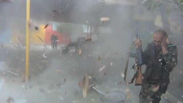 Кадры сражения сирийских солдат с боевиками «Джейш аль-Ислам» в Восточной Гуте