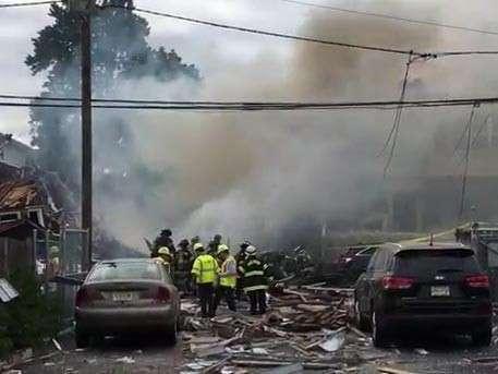 В штате Нью-Джерси в США на воздух взлетели несколько жилых домов