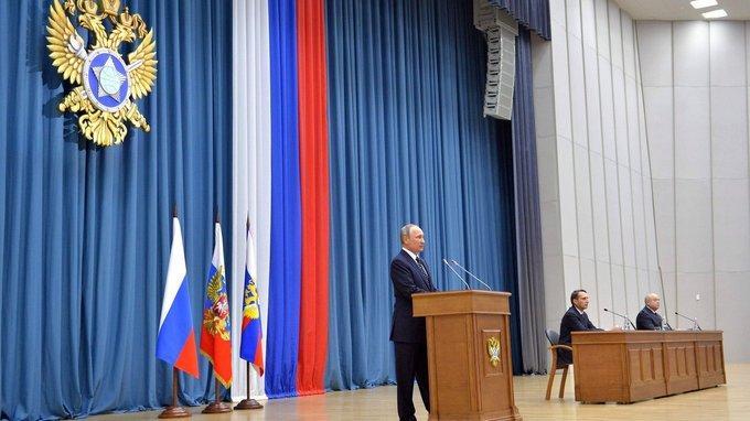 Владимир Путин встречается с сотрудниками Службы внешней разведки
