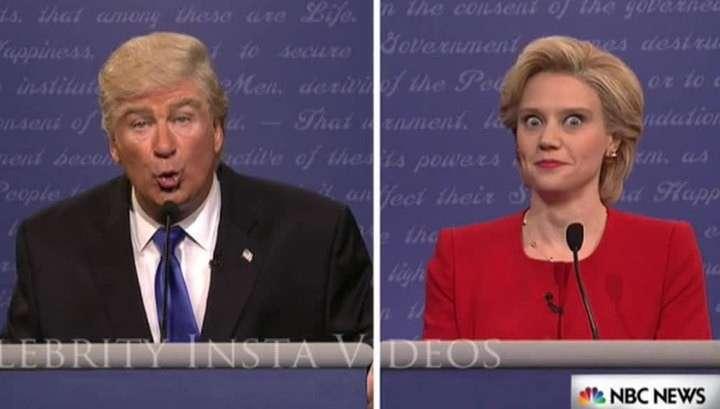 Старуха Клинтон чуть не упала со стула, когда увидела пародию на себя