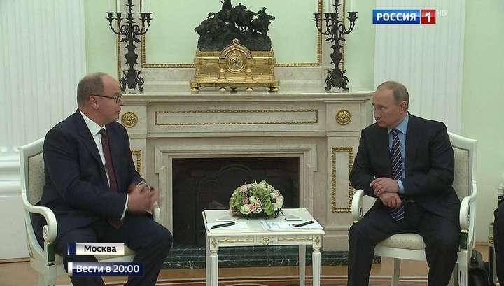 Президент России и князь Монако пообщались под сенью Третьяковской галереи