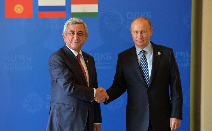 СПрезидентом Армении Сержем Саргсяном.