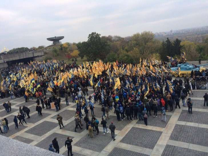Марш нацистов в Киеве, в котором якобы нет фашизма