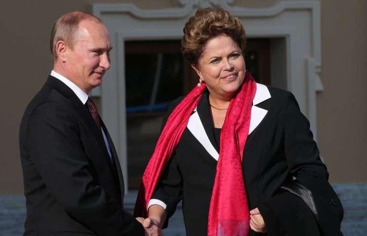 Владимир Путин проведёт переговоры с президентом Бразилии Дилмой Роуссефф