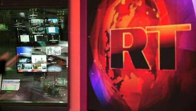 Аппаратная ньюсрума телеканала Russia Today на английском языке. Архивное фото
