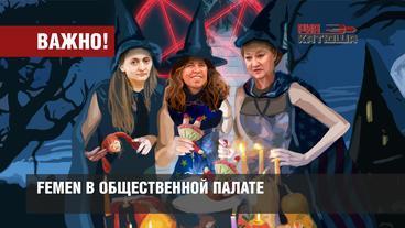 Сексуально озабоченные девки из Femen пробрались в Общественную Палату России