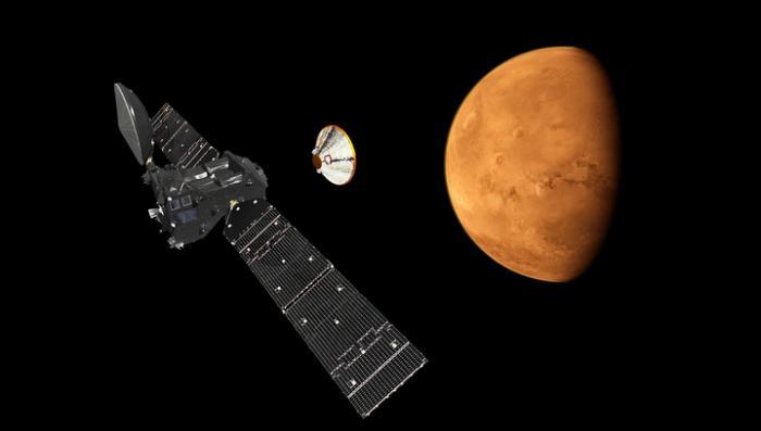 Модуль Schiaparelli коснулся поверхности Марса и сигнал с него пропал