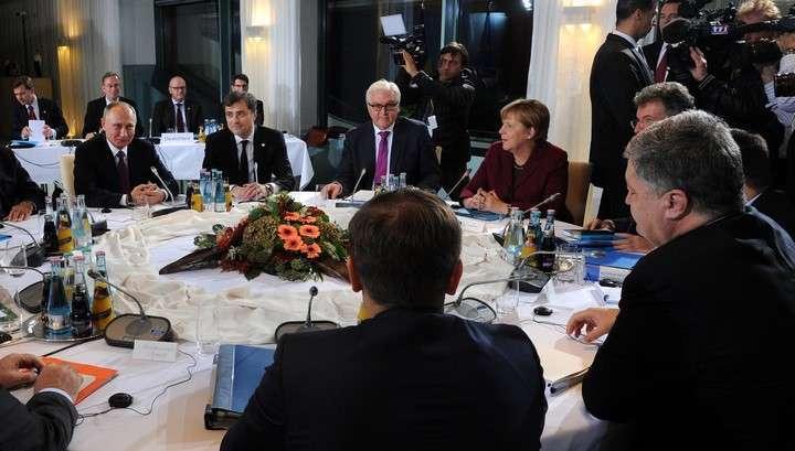 Переговоры лидеров нормандской четвёрки в Берлине завершены