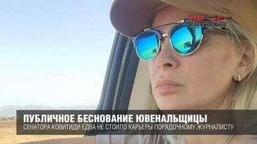 Публичное беснование истерички-ювенальщицы из Совета Федерации едва не стоило карьеры порядочному журналисту