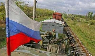 Бронепоезд Ясиноватец для эвакуации беженцев из Украины