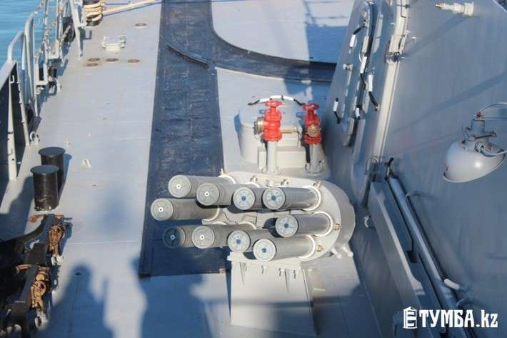 В порт Актау (Казахстан) с дружеским визитом прибыли корабли Каспийской флотилии ВМФ РФ