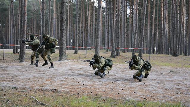 Приемы ближнего боя и штурм здания на тренировке спецназа в Псковской области
