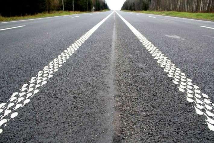 28. Уникальную шумовую разметку нанесли на участок дороги М-1 «Беларусь» Сделано у нас, политика, факты