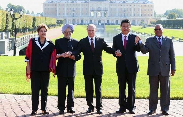 Дилма Русеф, Манмохан Сингх, Владимир Путин, Си Цзиньпин и Джейкоб Зума