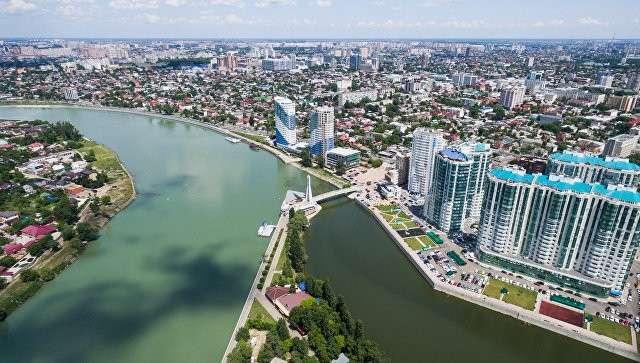 Вид на центр Краснодара. Архивное фото
