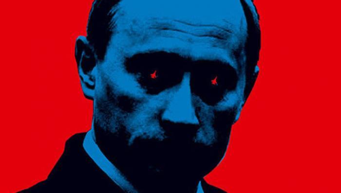 Дебилы из Economist опубликовали фото Путина с кровавыми самолётиками в глазах