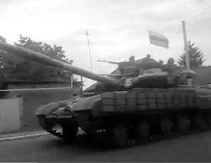 «Гвоздики» ополчения прошли через Енакиево к Донецку (видео)
