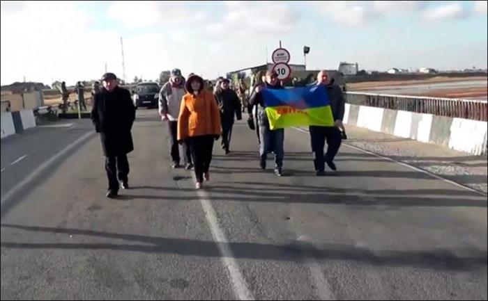На границе с Крымом украинцы передали «привет Путину»
