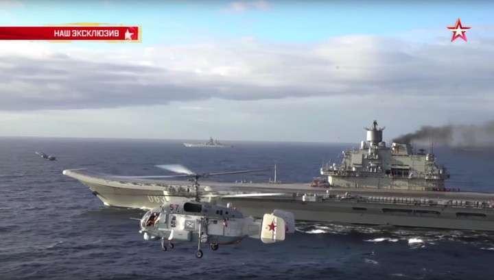 Взлёт и посадка: появилось видео работы палубной авиации «Адмирала Кузнецова»