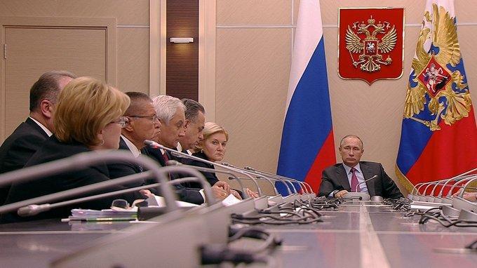 Владимир Путин провёл совещание с членами Правительства России
