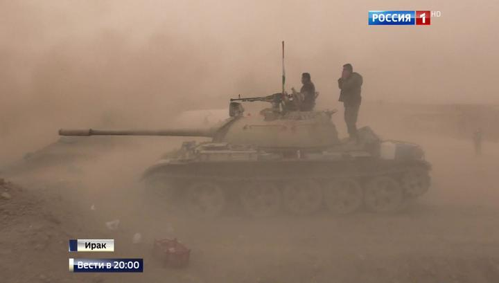 Советские танки громят игиловцев в Мосуле прямой наводкой