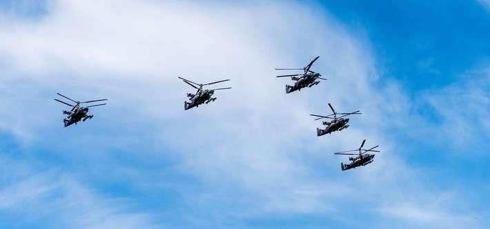 3. В вертолетный полк ЮВО на Кубани поступили 3 новых ударных вертолета Ка-52 «Аллигатор» Сделано у нас, политика, факты
