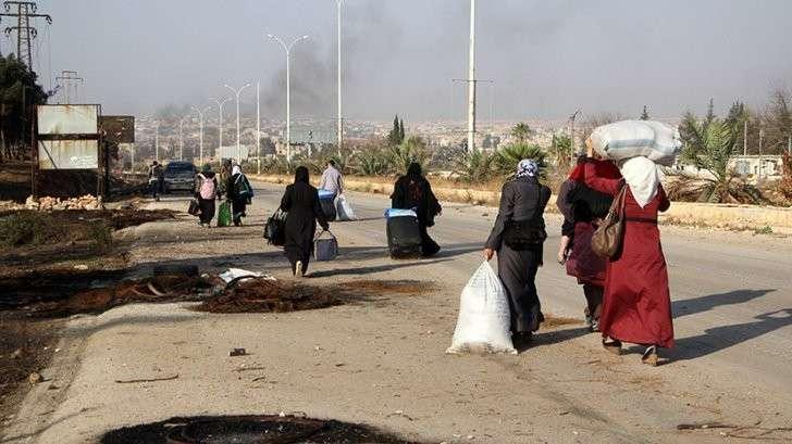 Гражданское население и боевики покидают Алеппо — прямая трансляция