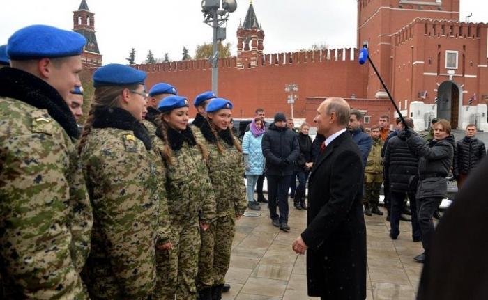 Владимир Путин принял участие в праздновании Дня народного единства