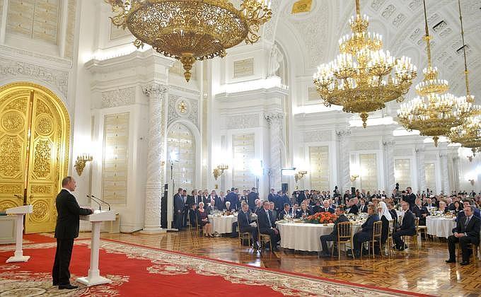 Вручение государственных наград и премии Президента за вклад в укрепление единства российского народа