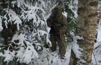 Министерство Обороны опубликовало видео учений военных разведчиков