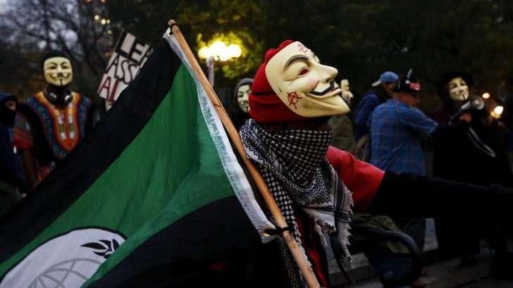 Акция в Лондоне: «Марш миллиона масок» - прямая трансляция