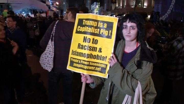 Выборы завершились массовыми протестами: арестованы десятки противников Трампа