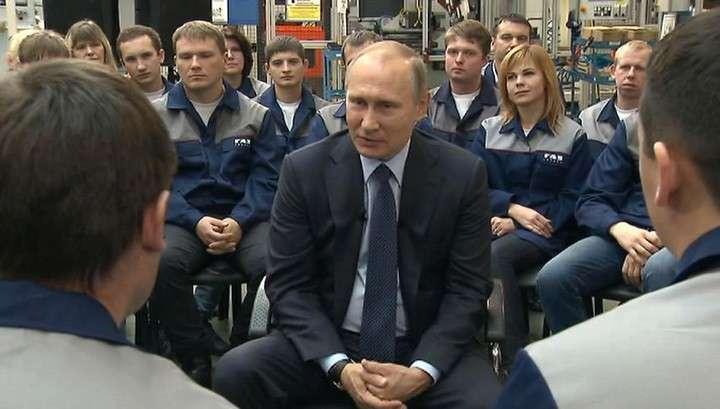 Владимир Путин посетил ярославский завод «Автодизель»