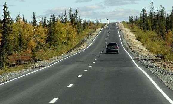 Фотофакт: строительство автодороги Надым - Салехард
