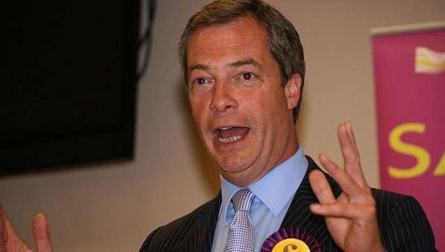 Британский политик Найджел Фарадж. Архивное фото