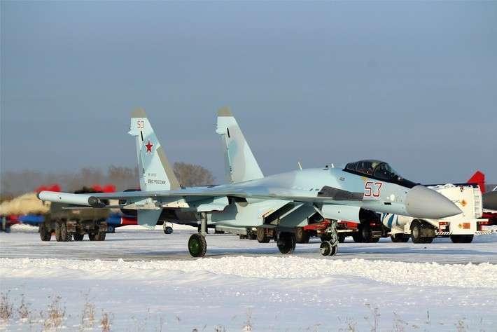 Новые истребители Су-35С для ВВС России поступили в войска