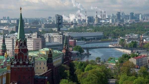 Вид на башни Московского Кремля