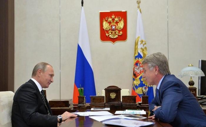 Владимир Путин встретился с председателем правления компании «НОВАТЭК» Леонидом Михельсоном