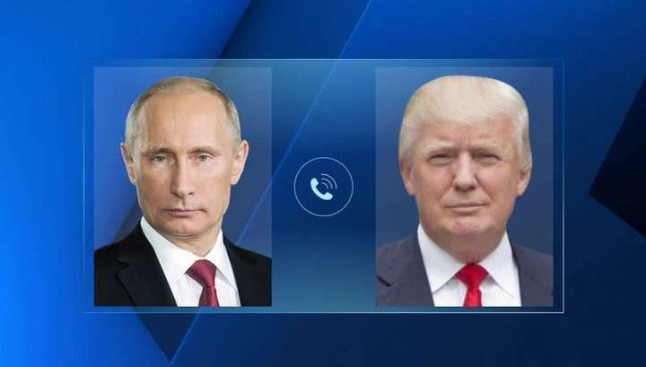 Владимир Путин поговорил с Дональдом Трампом по телефону