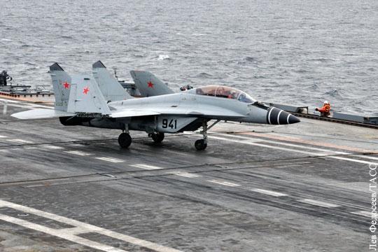Причины крушения МиГ-29 у берегов Сирии: «Где-то в ходе разворота он и завалился»