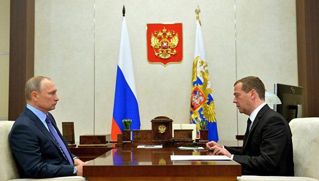 Владимир Путин и Дмитрий Медведев обсудили задержание Улюкаева