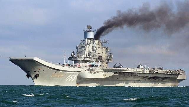 Тяжёлый авианесущий крейсер Адмирал Флота Советского Союза Кузнецов. Архивное фото