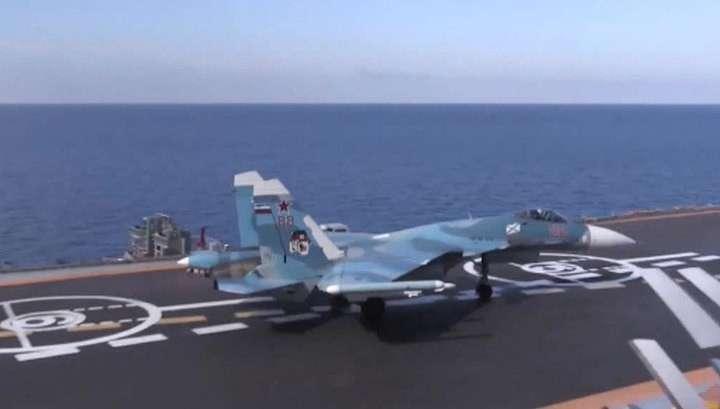 Сергей Шойгу: по террористам в Сирии ударили «Калибрами» и Су-33 с «Адмирала Кузнецова»