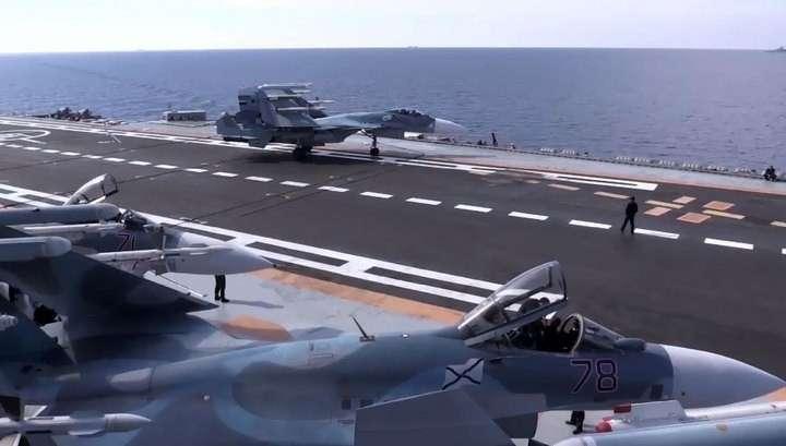 Видео ударов с «Адмирала Кузнецова» и «Адмирала Григоровича»