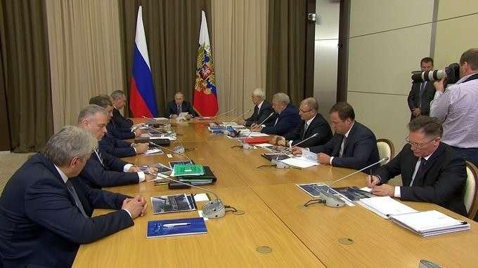 Вступительное слово насовещании остратегии развития госкорпорации «Роскосмос»